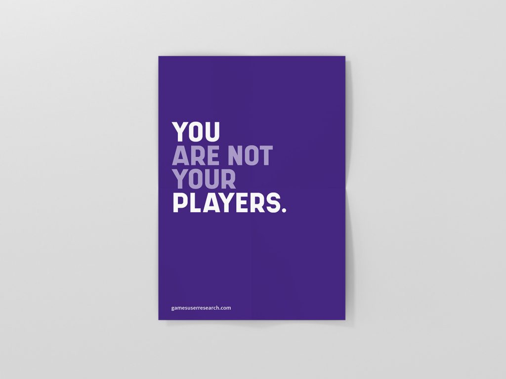 You Are Not Your Players Poster