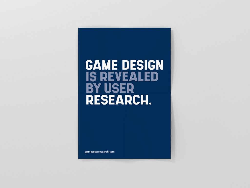 Game Design Is Revealed By User Research Poster