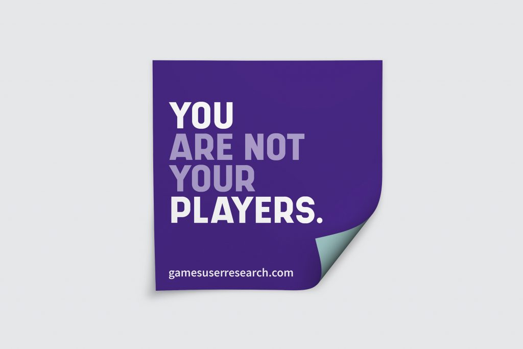 You are not your players sticker