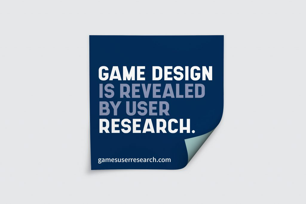 Game Design Is Revealed By User Research Sticker