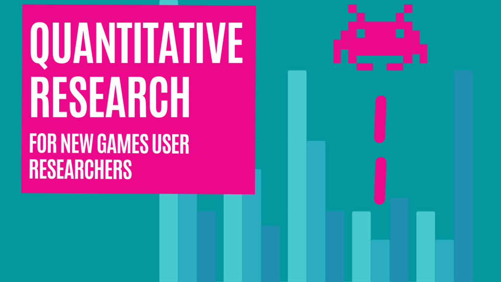 Quantitative Research for new Games User Researchers